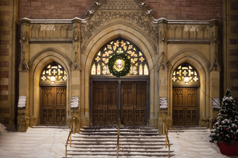 Architecture Arch Entrance Built Structure Building Door Building Exterior Illuminated Staircase Day Lighting Equipment Outdoors Wealth Architectural Column No People The Past History Luxury Ornate Electric Lamp Chritmas Harry Potter