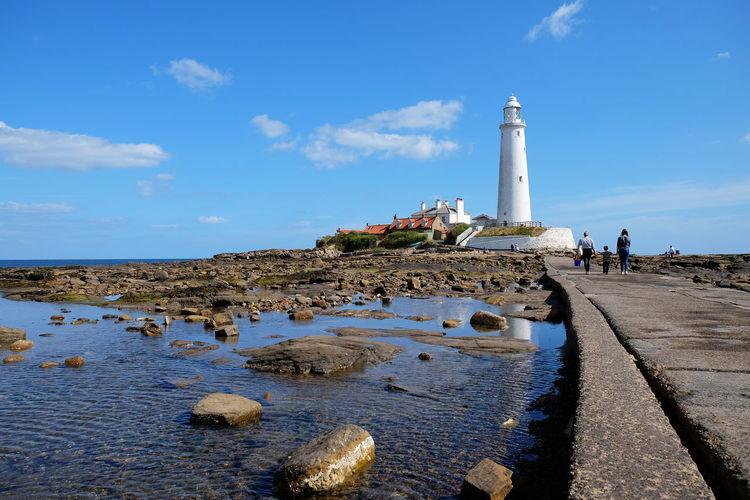 St Marys Lighthouse Cloud Coastline EyeEm Selects Holiday Lighthouse Tyne And Wear White Light House Blue Sky Backgrounds Beach Blue Sky Coast England North East England Sky St Marys Lighthouse White Whitley Bay Capture Tomorrow