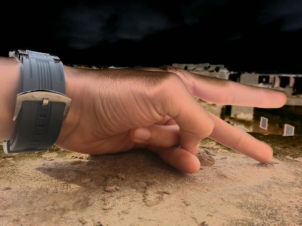 Black Sky my hand Peace ✌