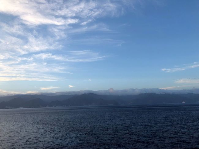 Sky Scenics - Nature Beauty In Nature Mountain Tranquil Scene Cloud - Sky Tranquility Water Waterfront Mountain Range Non-urban Scene Nature No People Sea Idyllic Remote Environment Day Land View Into Land Wolkenbilder Wolkenkunst Panorama Himmel Und Meer Tenerife Island