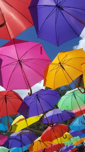 Multi Colored Full Frame Protection Close-up Umbrella Beach Umbrella