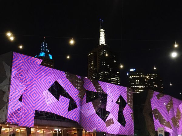 Federation Square Hanging Out Nightphotography Night Lights City Lights At Night City Colorful White Night Melbourne Federationsquare Melbourne White Night Check This Out Taking Photos EyeEm Gallery