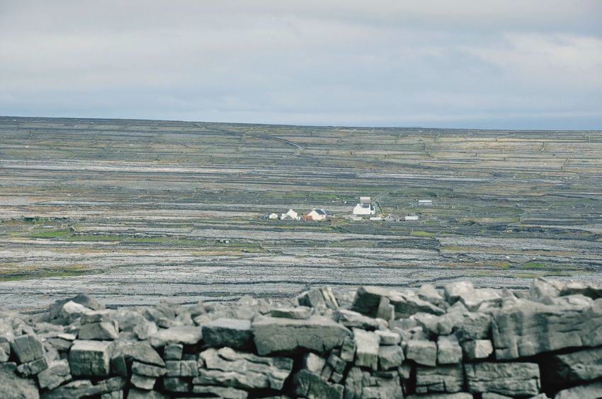 The strange landscape of the Aran Islands. Landscape Ireland The Burren Aran Islands Barren Landscape Isolated Village Wide Open Spaces