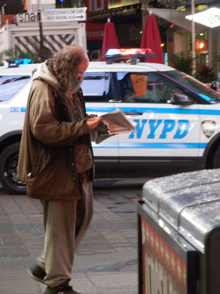New York New York City City City Life Reading TimesSquare Homeless Morning People And Places