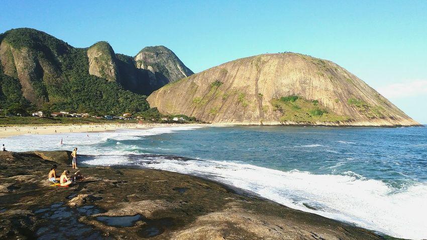 Minha paisagem favorita incansavelmente ❤ Beach Mountain Water Day Beauty In Nature Sky Itacoatiaradise Itacoatiara Itacoa