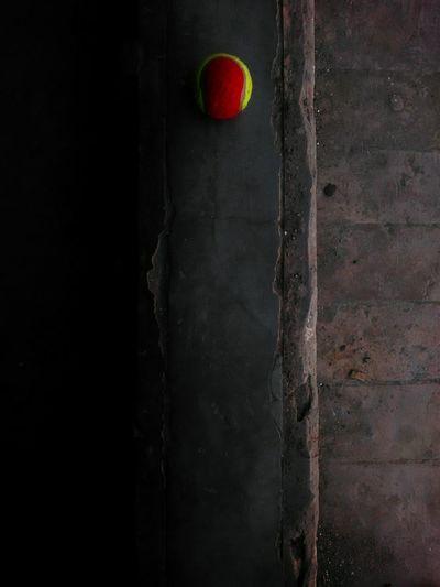 a ball, some cement & a camera Close-up Red Green Tennis Ball Bricks Cement Abstract Paths The Still Life Photographer - 2018 EyeEm Awards