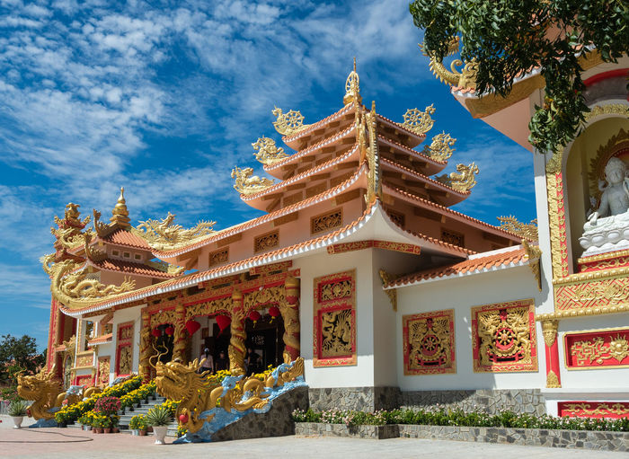 Architecture Built Structure Building Exterior Building Belief Religion Place Of Worship Sky Cloud - Sky Spirituality Nature Art And Craft Representation Gold Colored No People Outdoors Day Ornate