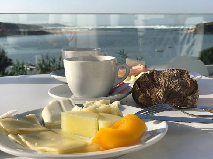 Ocean Ocean View Restaurant Hotel Travel Travel Destinations Freshness Tourism Tourist Destination Food And Drink Caffee Coffee Cup Fruits Fruit Cheese! Breakfast Orange Juice In Glass
