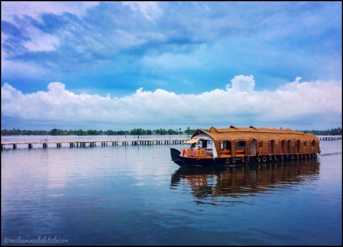 Houseboat Alappuzha Kerala Water Waterfront Sky Cloud - Sky Nature Beauty In Nature Outdoors IPhoneography Mobilephotography Iphonephotography