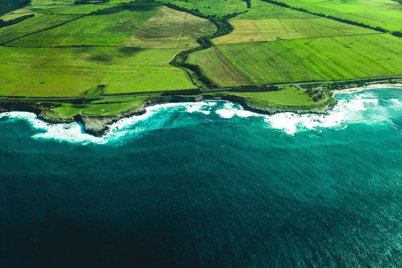 Southern Coast of Maui Summicron 35mm Leica M9 Pacific Maui Hawaii Water Green Color Nature Environment No People Scenics - Nature Aerial View Landscape Turquoise Colored Land Sea High Angle View