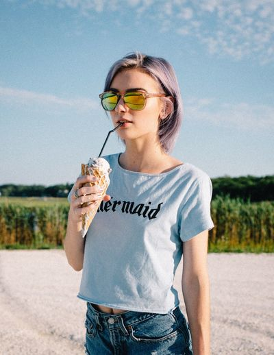 Sunglasses The Portraitist - 2017 EyeEm Awards Summer Young Women Beautiful EyeEm Best Shots Happiness Ice Cream Portrait The Week Of Eyeem