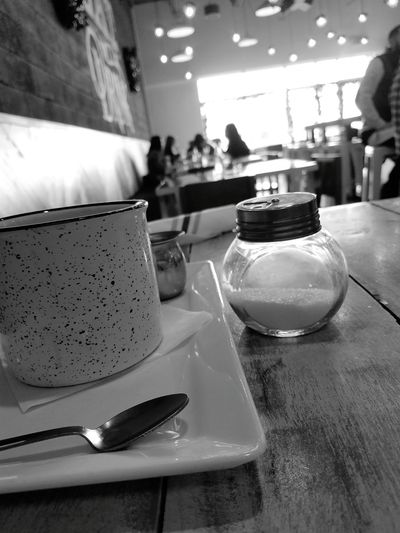 Coffee (taken with my Samsung Galaxy S7 Day Table Drinking Glass Coffee Coffee Time Brunch Blackandwhite Photography Black And White