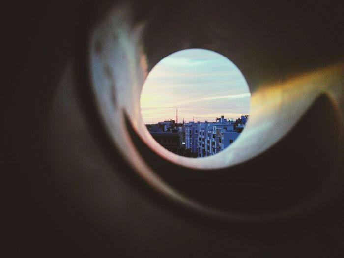 Cityscape Sunset Urban Skyline No People Modern Outdoors Day Sky CIRCLE Of LIFE Tiny Planet Bestmoment Eyembestshots LittlePlanet Focus Point Sky_ Collection First Thing I See Windowsaroundtheworld A Hole To Another World? Through The Windows Of My Mind Through The Looking Glass Through My Eyes Skycollection Eyem Best Edits First Pic Through My Lens