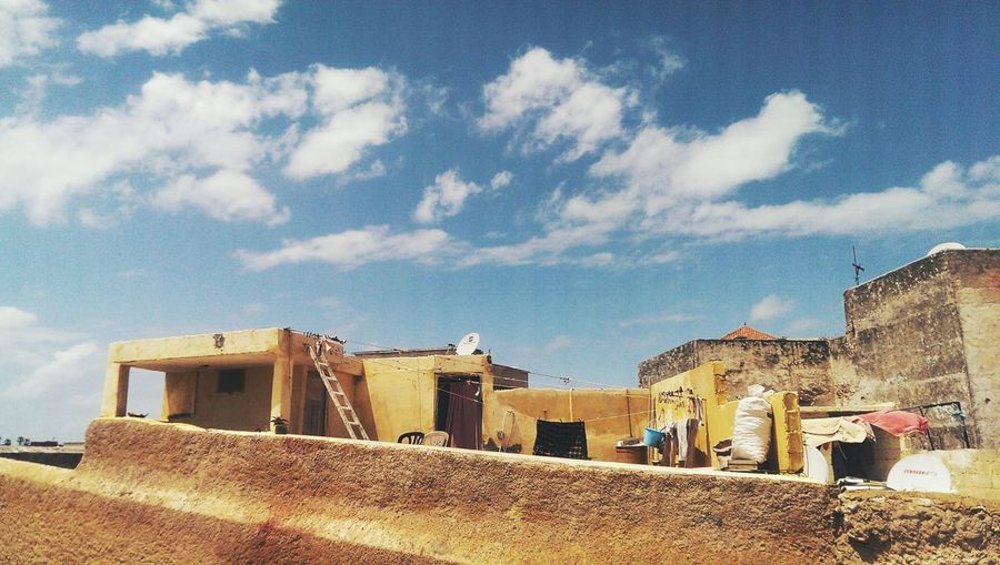 Taking Photos Hanging Out Traveling Travel Mazagan Old Buildings Sky Sky And Clouds Composition