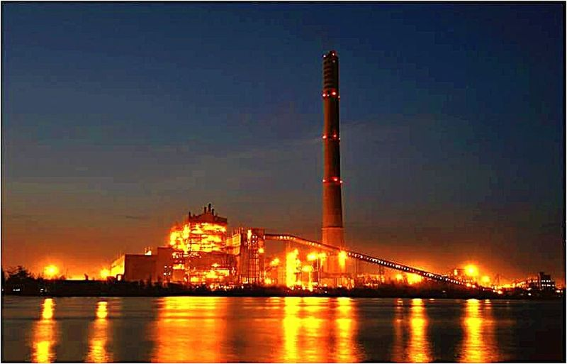 Technology Water Sky Business Finance And Industry Dahanu Thermal Power Station