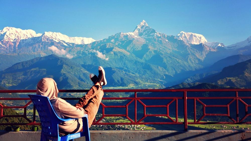 Travel Memory Of Travel 2014 Model Nepal relaxing and looking at