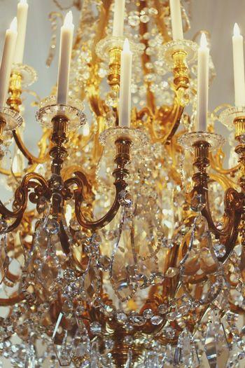 43 Golden Moments Chandelier Gold Candels Kristal