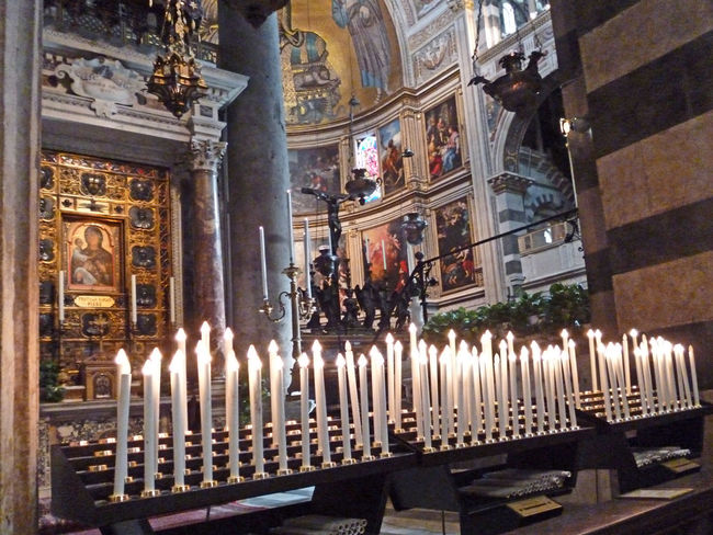 Many candles for the dead, inside the Cathedral of Pisa, Ital Candles Of Faith Cathedral Of Pisa Adult Architecture Built Structure Candle Day Illuminated Indoors  Large Group Of People Men People Pisa, Italy Place Of Worship Real People Religion Spirituality Standing Women