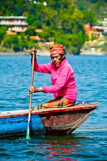 - Anapurna Colorful Fiishing Katmandu Lake People Pink River