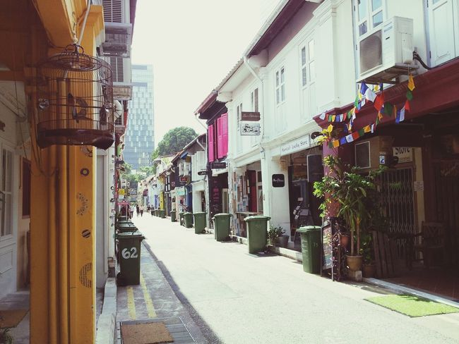 Haji Lane, Singapore. Architecture Building Exterior Built Structure Street The Way Forward Outdoors Day City Sky Singapore Haji Lane, Singapore Arab Street Travel Destinations