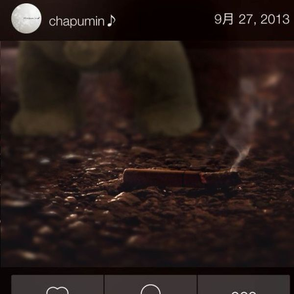 『I believe he'll put out this to cigarette stand. :)だって、靴はいてないもんね。』Chapminさんご承認済 Collaboration