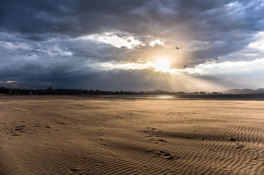 Overcrowded beaches are for dumbs. Laredo Cantabria Spain Cantabria SPAIN Latierruca Cantabriainfinita The Great Outdoors With Adobe The Great Outdoors - 2016 EyeEm Awards Beachphotography Sunset_collection Clouds And Sky Stormy Weather Surflife