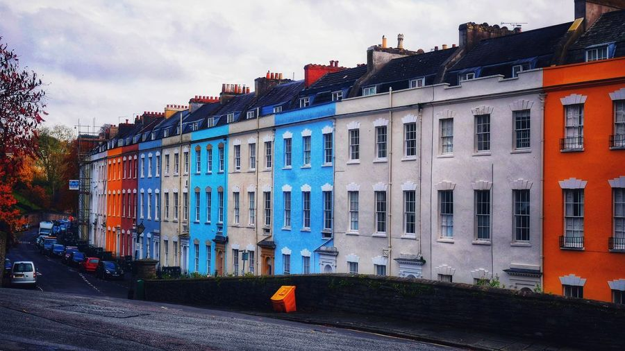 Photowalktheworld Terraced Houses Colourful Houses The Architect - 2018 EyeEm Awards Surreal Bristol City Sky Architecture Building Exterior Residential Structure City Street Street Street Scene