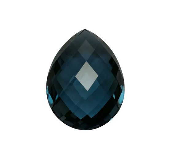 London blue topaz gemstone Expensive Polishing Cut Jewelry Stone Shape Transparent Fancy Beautiful Gemstones Fashion Design Natural Background Texture Blue Color Checkerbord Jewel White Background Close-up Day