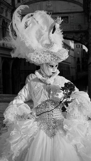 One Person Traditional Clothing People Close-up Urban Venice Venice Travel Destinations Venice Italy Venice, Italy Costume Portrait Street Performer Carnival Crowds And Details