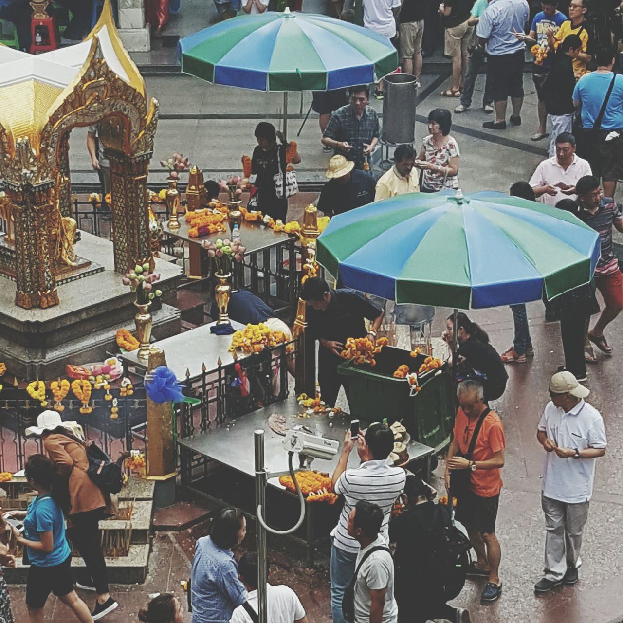 People Worshipping At Erawan Shrine