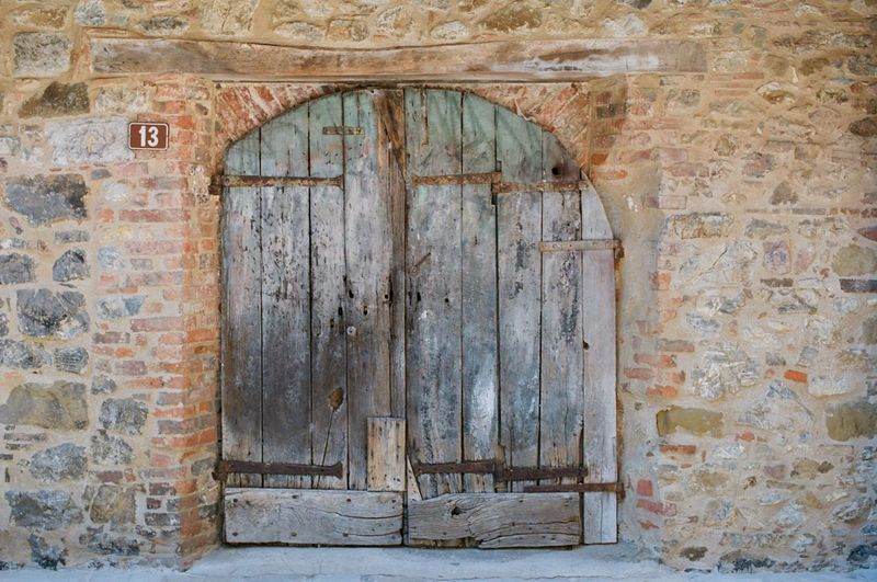 San gusme Filmphotography Italy Tuscany Architecture Built Structure Old Building Building Exterior Door Entrance Closed No People
