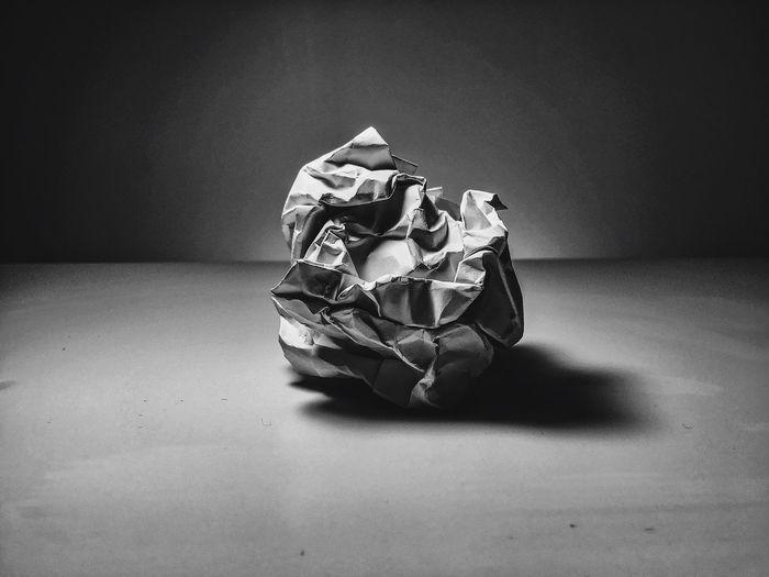 Close-up of crumpled paper