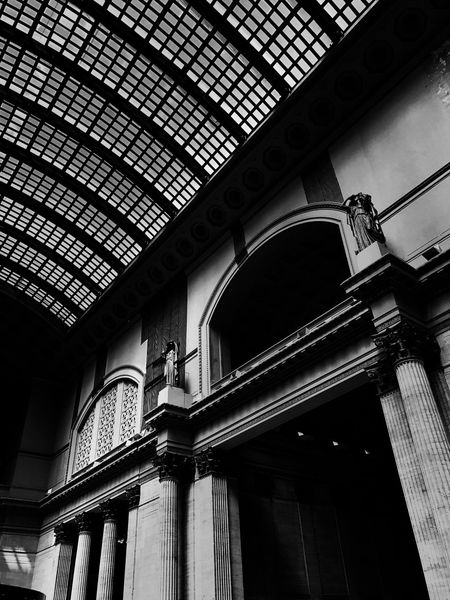 Waiting at the Train Station Blackandwhite Architecture Chicago