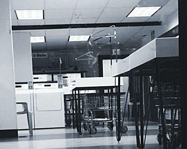 Laundrymat Washing_clothes Washingmachines Dryers Hangers Took a photo of the local laundymat on Lovejoy