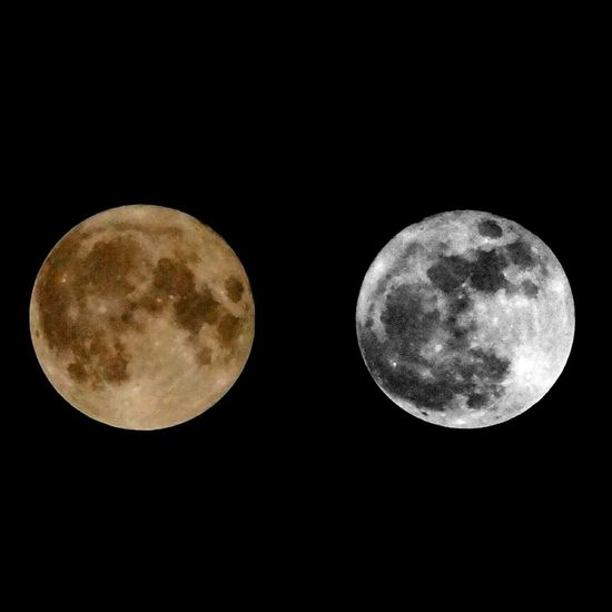 Two supermoons in one! Supermoon Supermoon2016 Color Blackandwhite Blackandwhite Photography Outdoors Night Moon Nature