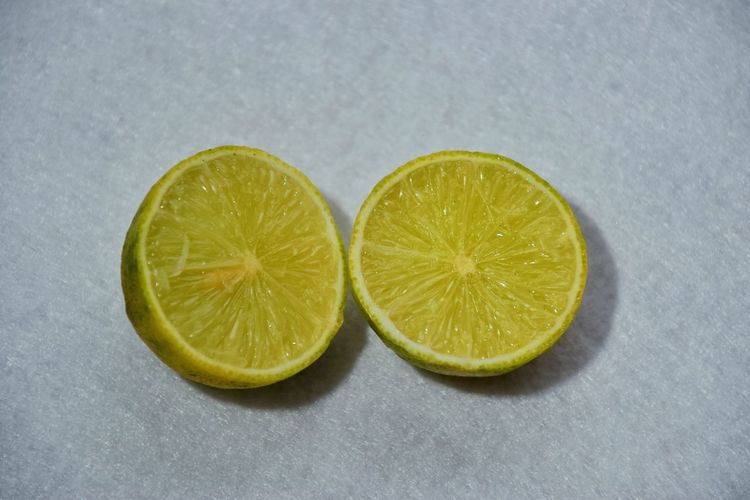 Close-up of lemon slice