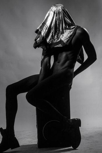 Hooded.Blackandwhite Portrait