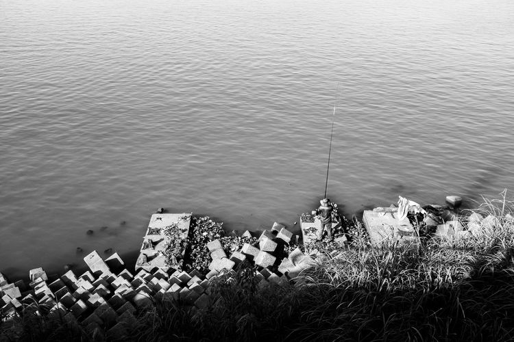 Fishin Day Fujifilm_xseries Water Nature High Angle View Sea Beach No People Outdoors Beauty In Nature Tranquility Land Scenics - Nature Nautical Vessel Plant Tranquil Scene Architecture Built Structure Pollution