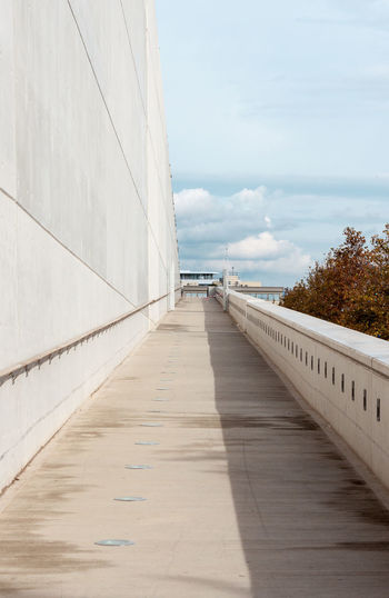 Boardwalk against sky