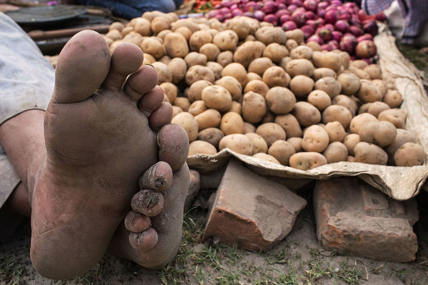 Pota-toes. Sonepur Mela, Bihar state, India. India Sonepurmela Streetphotography Humour Market Outdoors Close-up