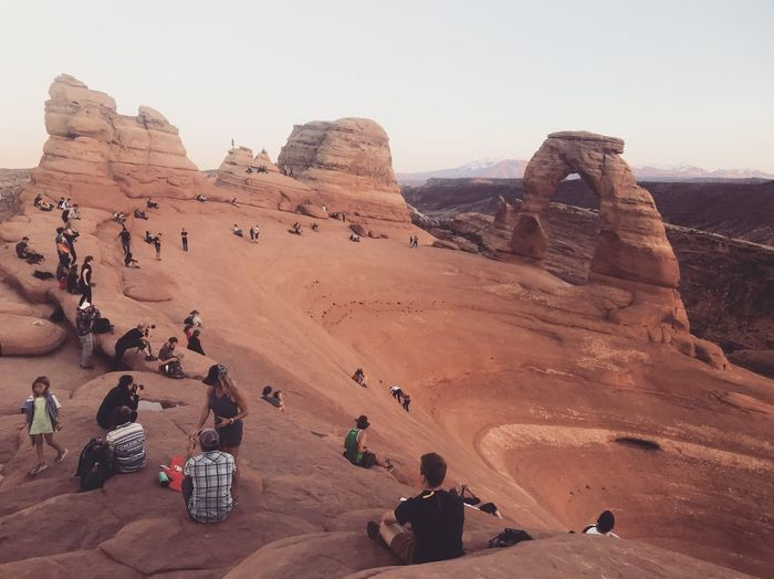 Delicate Arch Rock - Object Rock Formation Rock Solid Group Of People Scenics - Nature Travel Destinations