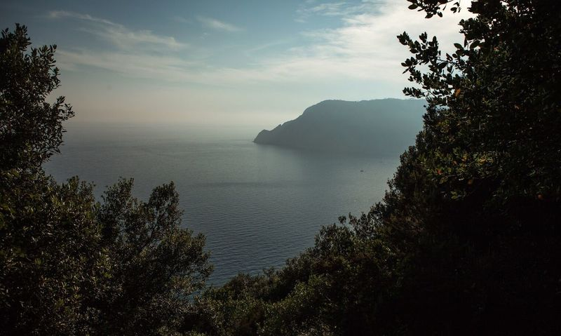Italy Sea Nature Nature_collection Nature Photography Mountains Forest Cinque Terre Cinqueterre Water Beauty In Nature Scenics Tranquility Horizon Over Water Outdoors Tranquil Scene Peaceful