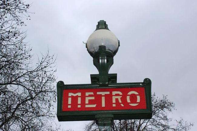 Paris Metro Paris Moody Solumn Winter Rain Cloudy Sign Signs Full Frame French France Landscape Wallpaper Light Up Light Building Exterior Metro Station Metro Frame Danger Low Angle View Red No People Time Day City Outdoors Sky Close-up