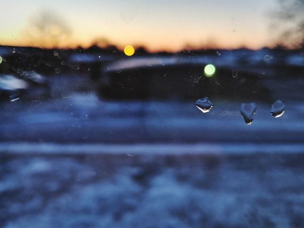 Drop Water No People Sunset Focus On Foreground Wet Backgrounds Nature RainDrop Sky Outdoors Fragility Close-up Night Beauty In Nature Flying Space Freshness Astronomy Galaxy
