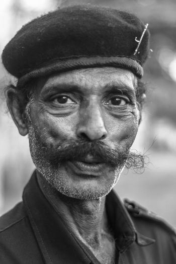 real People - Portrait - black and white Blackandwhite Close-up Confidence  Face Mustache One Person Outdoors Person Portrait Real People