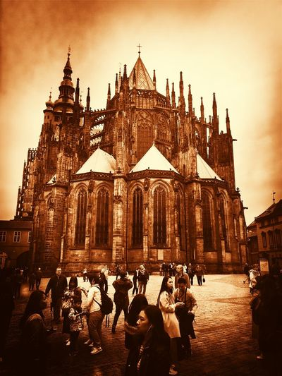 Prague Czech Republic Architecture Belief Building Building Exterior Built Structure Crowd Group Of People History Large Group Of People Men Real People Religion Sky Spirituality The Past Travel Destinations Women