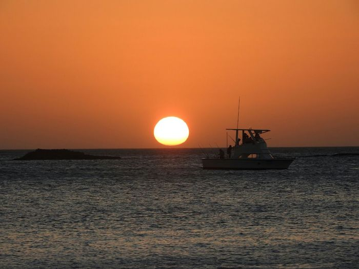 Costa Rica Guanacaste  Playa Rajada Water Nautical Vessel Sea Sunset Sun