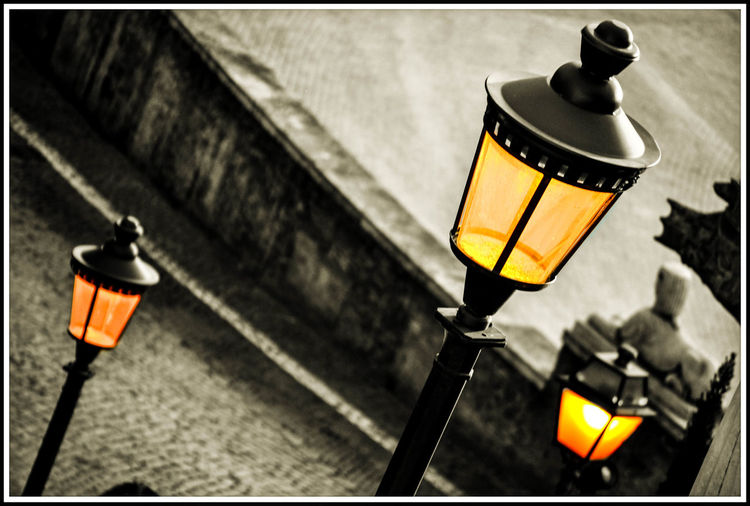 Architecture Close-up Italy Lantern Lighting Equipment Low Angle View No People Outdoors Piazza Di Poppolo Street Light