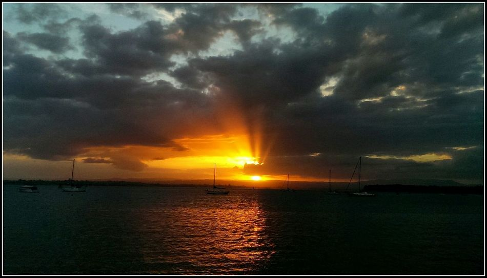 The beauty of watching the sunset is a definite treat to one's eyes! :)