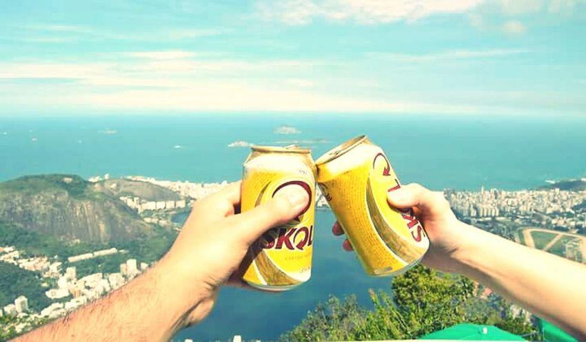 Love in Rio Rio De Janeiro Eyeem Fotos Collection⛵ Rio Brasil Corcovado Skolgelada Traveling Cheers Holiday POV